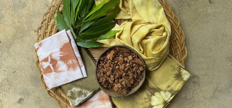 'ผ้ามัดย้อมสีธรรมชาติ' ผลิตภัณฑ์ Zero waste จากสวนมะพร้าว