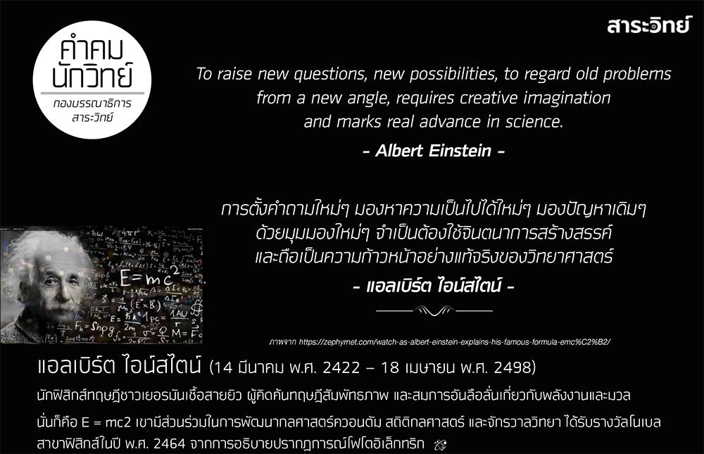 คำคม นักวิทย์: แอลเบิร์ต ไอน์สไตน์