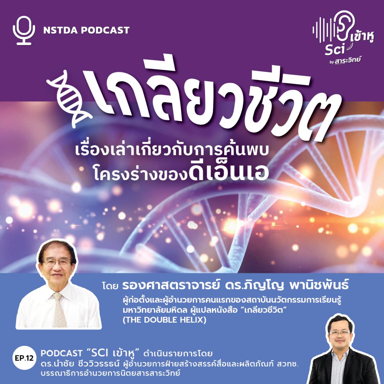 Podcast รายการ Sci เข้าหู EP12: เกลียวชีวิต เรื่องเล่าเกี่ยวกับการค้นพบโครงร่างของดีเอ็นเอ